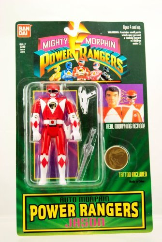 Mighty Morphin Power Rangers Auto Morphin Jason from Bandai by Power Rangers -