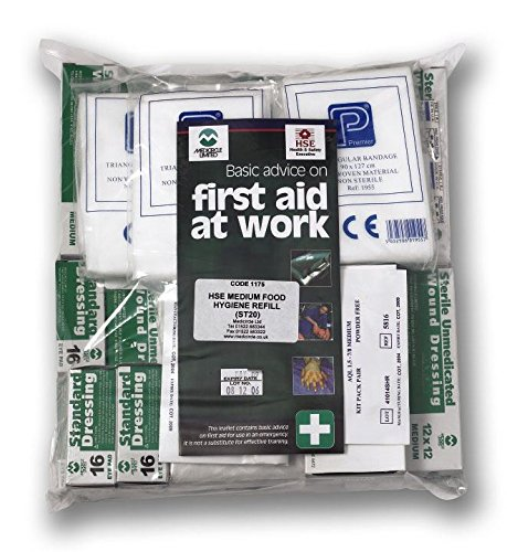 Genware NEV-FAREF10 First Aid Kit Refill, 10 Persons