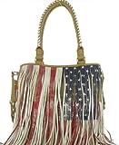 Steve Madden Bfringer Women's Handbag Fringe Satchel Purse Beige, Bags Central