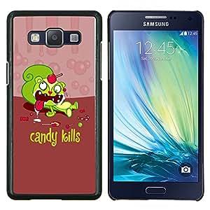 YiPhone /// Prima de resorte delgada de la cubierta del caso de Shell Armor - Caramelo dulces Muertes Cita Slogan Azúcar Muerte - Samsung Galaxy A5 A5000