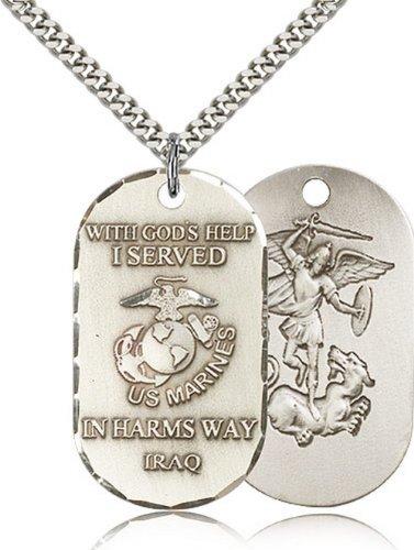 Icecarats Créatrice De Bijoux En Argent Sterling Pendentif Marines Irak 1 1/2 X 3/4 Pouces