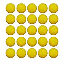 NUOLUX 25Pcs Darts Refill for Nerf Rival Zeus MXV-1200 Apollo XV-700 Blaster Color Yellow