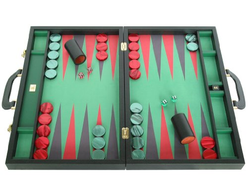 Leather/Microfiber Backgammon Set - (23