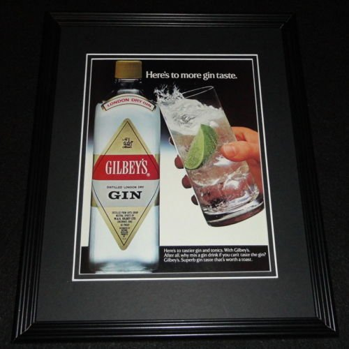 1984 Gilbey's Gin Framed 11x14 ORIGINAL ()