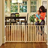 North States 103' Wide Extra-Wide Swing Baby Gate: Perfect for Oversized Spaces. No Threshold and one-Hand Operation. Hardware Mount. Fits 60'-103' Wide (27' Tall, Sustainable Hardwood)