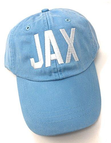 - Custom Monogrammed Jax Jacksonville International Airport Code Baseball Hat (Baby Blue)
