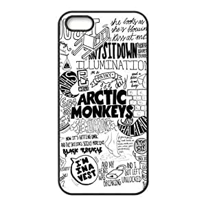 iPhone 5S Protective Case - Arctic Monkeys Hardshell Carrying Case Cover for iPhone 5 / 5S hjbrhga1544