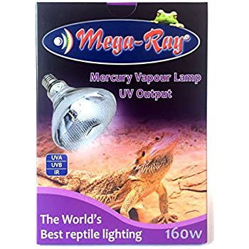 Amazon Com Mega Ray Mercury Vapor Bulb 160 Watts 120v