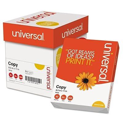 Universal - Copy Paper Convenience Carton, 92 Brightness, 20lb, 8-1/2 x 11, White, 2500/Ctn 11289 (DMi CT