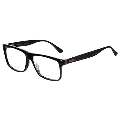 5e93a65512c GUCCI 1077 Eyeglasses 0263 Black Matte 55-15-145  Amazon.co.uk  Clothing