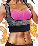 Ursexyly Fat Burner Sweating Vest Shirt Neoprene Slimming Sauna Suit Tank Top for Women (Grey Sweating Vest, L, US 12-14)