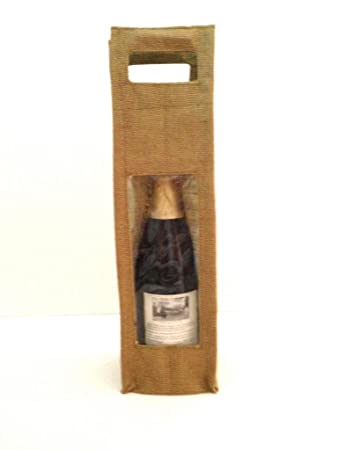 Amazon.com: Yute bolsas de regalo de vino (Single/Doble) con ...