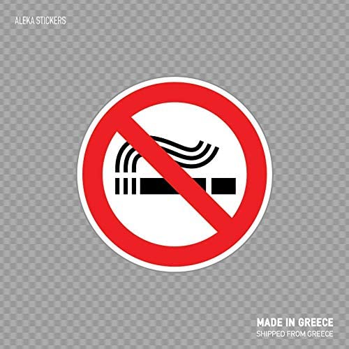 Beach345sley No Smoking Sign Information Sign Health Hospital Store Decoration Quality Signage X246 Funny Sticker Decal 7x6 inch