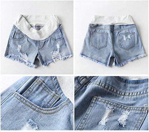 Mujeres Con Moda Mezclilla Cortos Ajustados Maternidad Azul Pantalones Del Jeans Casuales Dama Banda De Vientre 08waRRq