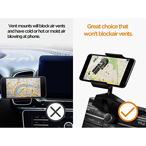 IPOW One Button Installation CD Slot Phone Holder, IPOW Car Mount Cradle Stand for iPhone X 8 8P 7 7P SE 6s 6 6P 5S, Galaxy S8 S7 S6 S5 S4, Google, LG, Huawei, Nexus by IPOW (Image #6)