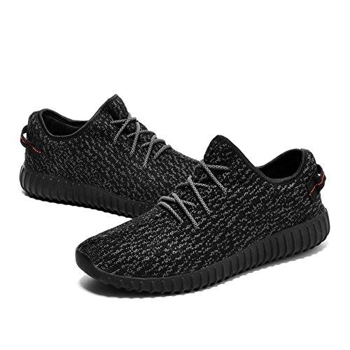 Iceunicorn Hommes Sneakers Sport Chaussures De Course Running Sport Sneaker Casual En Plein Air Tennis Sneakers (noir, 45eu)