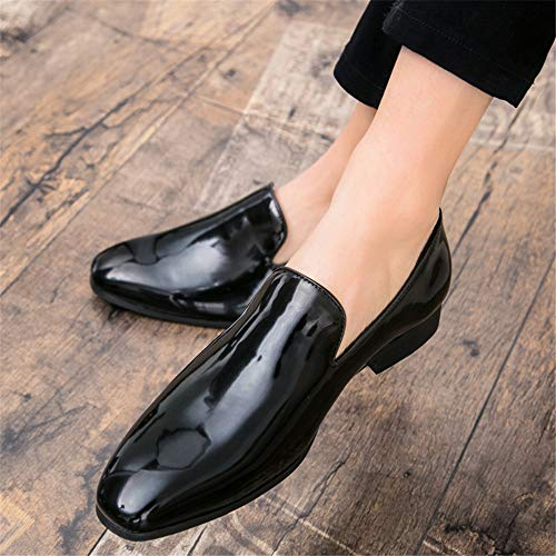 À En Richelieus Pour Classique Chaussures De Bal Fashion Bouts Simple Casual Hommes Cuir Noir Ronds Britannique Hilotu Habillées Chaussure Verni xEacwAZq7x