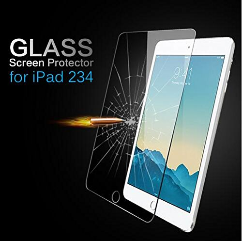 TIRIN Screen Protector-Premium Tempered Glass SHATTERPROOF Scratch Resistant, Anti Fingerprint, Anti Bubble, Explosion Proof, Crystal Clear Screen Protector for iPad 2 3 4 [2nd 3rd 4th Generation]