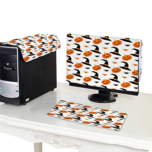 Miki Da dust Cover Computer case 27'' Monitor Set Happy Halloween Seamless Pattern Background 2