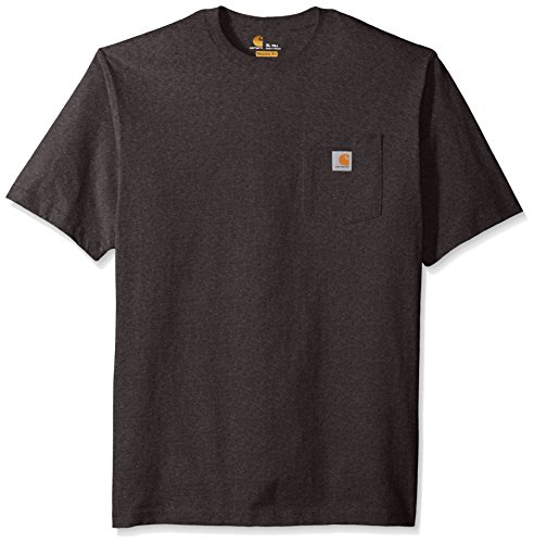Carhartt Men's Big and Tall K87 Workwear Pocket Short Sleeve T-shirt (Regular and Big & Tall Sizes), Carbon Heather, 3X-Large