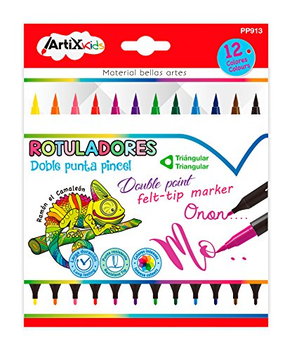 Artix Kids PP913 - Pack 12 rotuladores doble punta