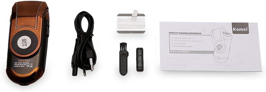 Goldyqin KEMEI KM-Q788 Afeitadora eléctrica portátil Recargable 3D ...