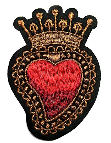 Red Heart Royal King Crown Queen Princess Fashion