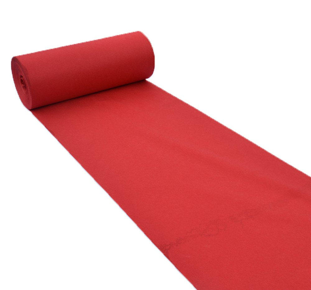 Disposable red carpet/wedding opening celebration exhibition stairs thick non-slip red carpet/stage T disposable carpet/130g/square meter (3 thickness, 20