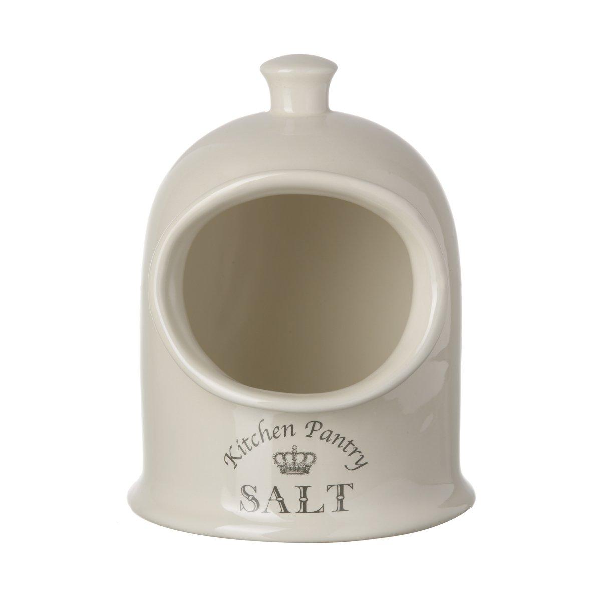 Majestic Cream Salt Pig, Kitchen Storage Jar Pot TTC