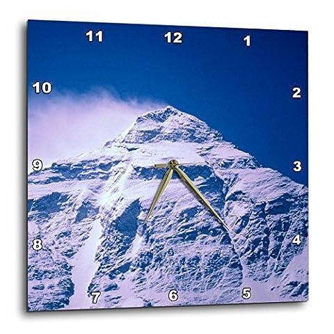 3D Rose dpp_73703_3 3dRose Snowy Summit of Mt. Everest, Tibet, China-AS42 DBR0072-Dave Bartruff-Wall Clock - Everest Rose