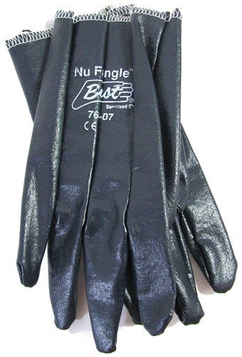 Size 7 (Small) Cotton-Lined Nitrile Impregnated Work Gloves (1 Pair) ()