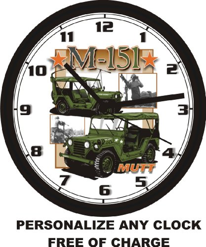 MUTT M-151 MILITARY JEEP WALL CLOCK-Free USA Ship for sale  Delivered anywhere in USA