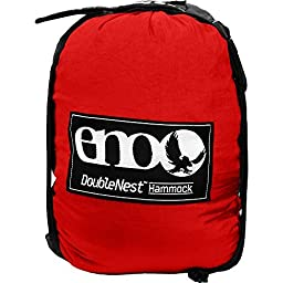 ENO Eagles Nest Outfitters - DoubleNest Hammock, Red/Charcoal (FFP)