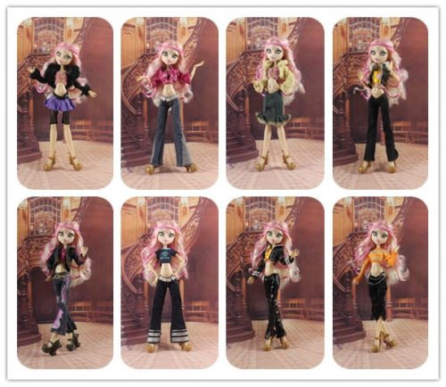 Clawdeen Wolf Costume Diy (5 PCS Random Diffirence Style Fashion Clothes Outfit Dress FOR Monster High Doll)