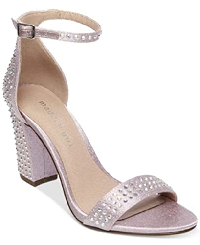 be3994b846 Amazon.com | Madden Girl Womens Bella Two-Piece Block-Heel Sandals Lavender  9.5 M US | Shoes