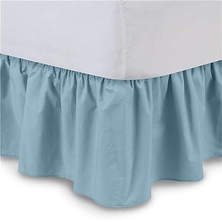 Splendidsun Falda de Cama de Color Puro, Falda de Cama elástica de ...