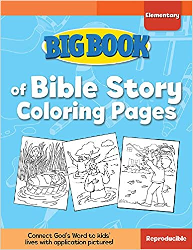 Big Book Of Bible Story Coloring Pages For Elementary Kids Books David
