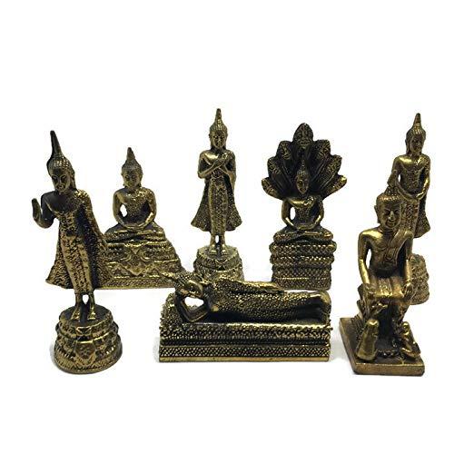 - 7 Days Buddha Statues Birthday Figurines Week Images Posture Miniature Thai Amulet Home Decor Monday Tuesday Wednesday Thursday Friday Saturday Sunday Lucky Charm Shrine Altar Spirit House Auspicious