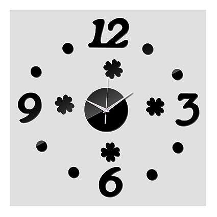 alrens (TM) nueva acrílico espejo reloj de pared 3d relojes salón hogar decoración moderna