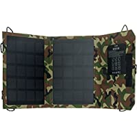 GreenLighting Portable Solar Panel - 7W Charger w/ Power Bank & LED Light (Camo)