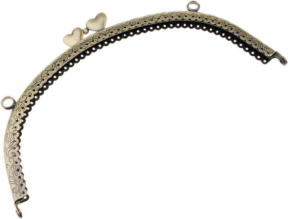 12.5x7cm Bronze per Borsetta e Borsetta Non-brand Moschettone a Forma di Cuore in Rilievo