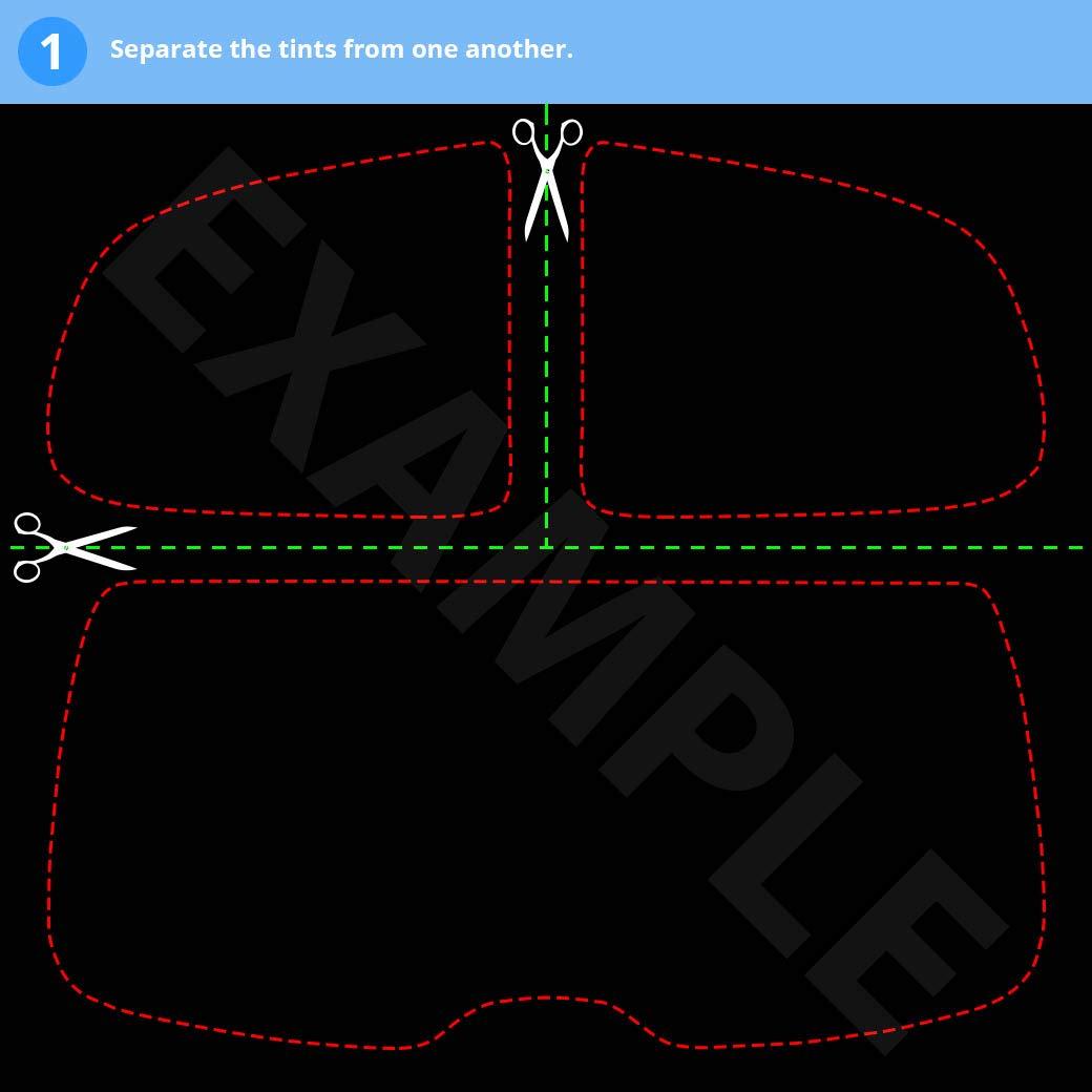 Kit de vitre teint/ée pr/é-d/écoup/ée pour Renault Twingo 3 Portes Hatch 2008-2013 20/% Dark Smoke