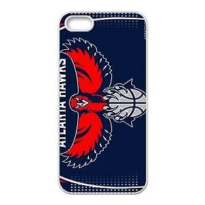 Atlanta Hawks NBA White Phone Case for iPhone 5S Case