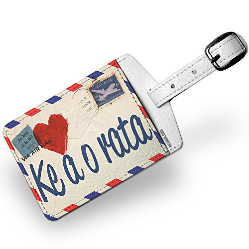 Luggage Tag I Love You Sesotho Love Letter from South Africa - NEONBLOND by NEONBLOND