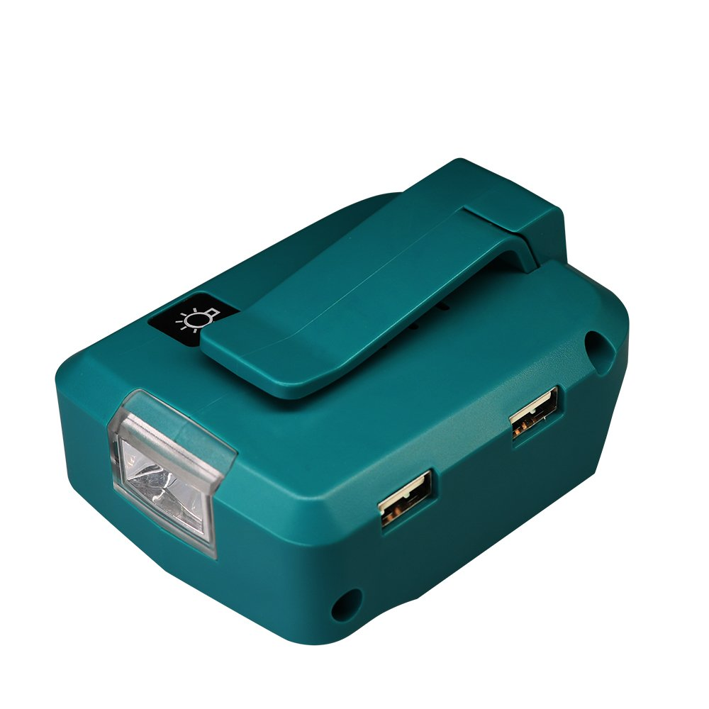 Updated ADP05 Power Source, USB Adapter For Makita LXT Lithium-Ion 14.4V 18V,Fast Charging Converter With LED Light ERJER by ERJER