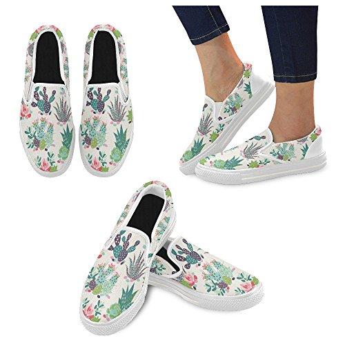 Unieke Debora Custom Fashion Dames Sneakers Ongebruikelijke Loafers Instappers Canvas Multicoloured7