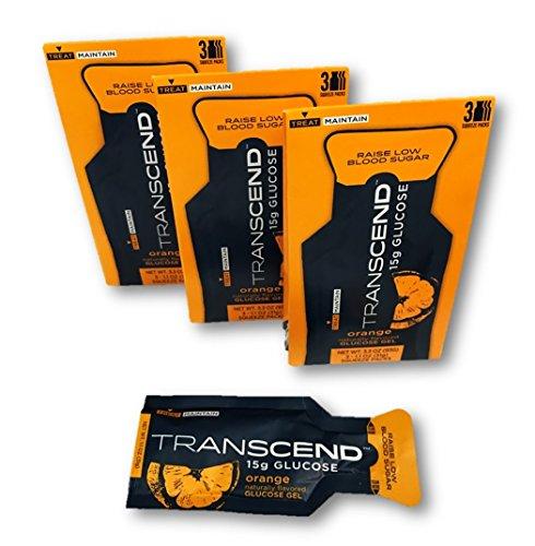 Transcend 15g Orange Glucose Gels in 3-Packs (3) For Sale