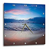 3dRose Sunset From Kaanapali Beach, Maui, Hawaii, USA.-Wall Clock, 15 by 15'' (dpp_205754_3)