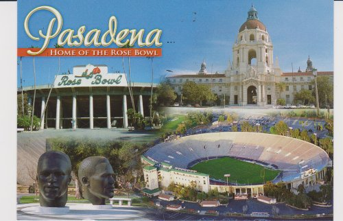 T-937 PASADENA - HOME OF THE ROSE BOWL POSTCARD . .. from Hibiscus ()