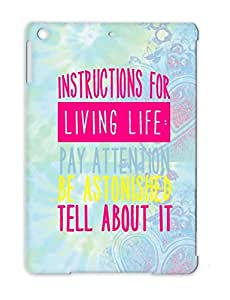 Wholehearter Yoga Living Life Philosophy Philosophy Quote Mary Oliver Instructions Religion Pink For Ipad Air Case